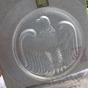 "💯LALIQUE VINTAGE ""A MOMENT IN TIME"" CRISTAL PLATE"